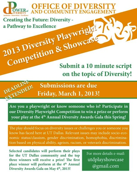 Diversity Playwriting Competition